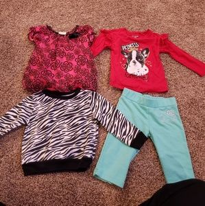 Other - Lot: 4 pieces of size 2T girl clothing.